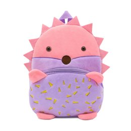 BaBy doll nursery online shopping - Cartoon animal children shoulder bag plush doll backpack male and female baby nursery school bag