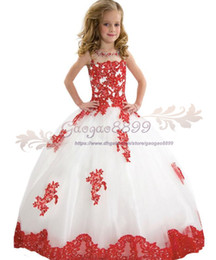 Red Birthday Dresses Australia - 2019 Vintage Jewel Neck Flower Girls Dresses Red lace Appliques crystal beaded First Commuion Dresses girls pageant dress For Girls Birthday