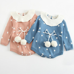 $enCountryForm.capitalKeyWord NZ - Baby Knitted Clothes Newborn Baby Girls Romper Long Sleeve Infant Jumpsuit For Girls Boys Overalls Clothes Girl Sweet Knitted Y19050602