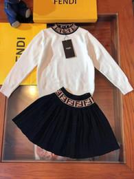 $enCountryForm.capitalKeyWord Australia - Baby girl fashion designer dress set white color swaeter + dress autumn winter fashion casual style clothing set for kid girl outfit