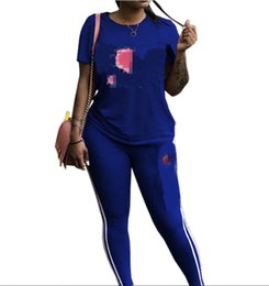 Cool traCksuits women online shopping - Champ Women Suits Summer Fashion Cool Big C Letters Printed Luxury Tracksuits