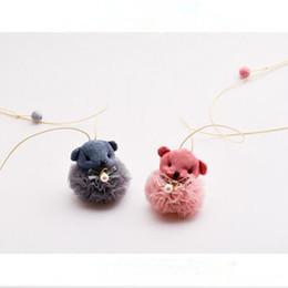 $enCountryForm.capitalKeyWord Australia - Korea Cute Lovely Yarn Dog Children Girl Kids Necklace & Pendant Baby Chain Collars Fashion Jewelry Accessories-HZPRCGNL002F