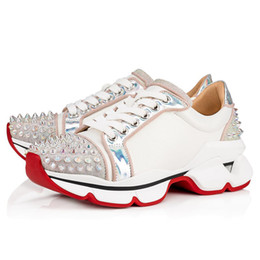 $enCountryForm.capitalKeyWord Australia - Fashion luxury Red Bottoms mens designer shoes men womens Orlato Flat Donna Runners Rivet Crystal Spikes Studded Low Trainers Sneakers