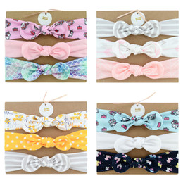 Discount fabric for headbands - Baby Cotton Headband With Fabric Hair Bow Hair Accessories head bands Set (3pc) For Toddler Girl FJ370
