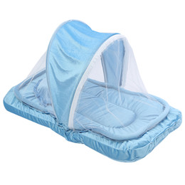 Wholesaler Baby Suits Australia - Folding Baby Bedding Crib Netting Portable Baby Mosquito Nets Bed Mattress Pillow Suit For Children Tent Cradle Bed Set