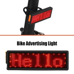 $enCountryForm.capitalKeyWord NZ - Cycling LED light Rechargeable Advertising Lamp Bike Light Cycling Bicycle Warning Light Lamp Bike Sign Lighting Taillight #738609
