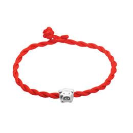 $enCountryForm.capitalKeyWord NZ - Hand-woven benmingnian red rope 925 silver pig bracelet female fashion DIY silver ornaments