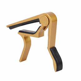 China 2019 Aluminium Alloy Metal Universal Guitar Capo Acoustic Classic Guitar Capo For Tone Adjusting Guitar accessories cheap for guitar suppliers