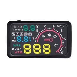 "$enCountryForm.capitalKeyWord UK - 5.5"" New Car HUD Head Up Display KM h & MPH Speeding Warning OBD2 Interface Windshield Projector Multiple-Color Bright System"