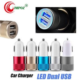 $enCountryForm.capitalKeyWord Australia - Top JMPOZ Car Charger Metal Travel Adapter 2 Ports Colorful Micro USB Car Plug USB Adapter For Samsung Note 8 Iphone 7 OPP Package K-SC
