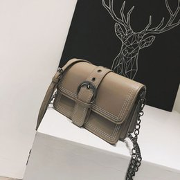 $enCountryForm.capitalKeyWord NZ - New Fashion Female Messenger Bag Chic Wild Small Square Bag Solid Color Chain Shoulder Bag Casual Multilayer Space Travel PU Crossbody Packs