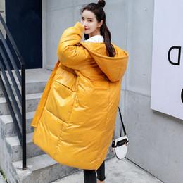Lady Long Winter Parka Australia - Winter Long Jacket Women Parka Coat Warm Thicken Hooded BF Style Jacket Coat Long Sleeve Plus Size Ladies Winter Parkas Z33
