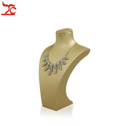 Leather mannequin online shopping - Leather Pendant Bust Necklace Display Stand Jewelry Holder Display Stand Resin Mannequin