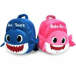 BaBy 3d online shopping - Baby Shark Backpacks Cartoon D Plush Backpack School Bag Kids Children Shoulder bags Plush Kinderegarten Bags Party Favor GGA1693