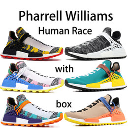China With box Originals NMD x Pharrell Williams Human Race Designer shoes BBC HU Solar Pack Equality Oreo Sun Glow You Nerd Running Shoes cheap glow dark boxes suppliers