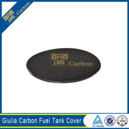 real carbon fiber cover NZ - Real Carbon Fiber Sticker Fuel Tank Cover For Alfa Romeo Giulia 2017
