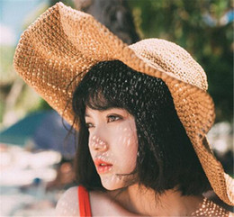 Sun Protection Tennis Hat Australia - New Women Korea Wide Brim Hat Cap Sun  Block Hat bf297f9ad53