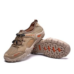 $enCountryForm.capitalKeyWord NZ - Summer Hiking Shoes Men Quick Dry Waterproof Shoes Mesh Beach Outdoor Hiking Sandals Man Trekking Men Trail Footwear