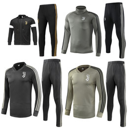 Wholesale man polyester suit for sale - Group buy Juventus soccer jacket training suit RONALDO DYBALA jackets kit juve full zipper football jacket sweater tracksuit