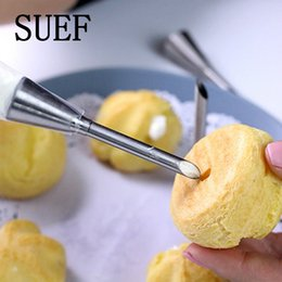 CupCake piping tips online shopping - 1PCS Piping Bag Nozzles Set Stainless Steel Cupcake Cake Decorating Tips For Puff Cream Pastry Piping Nozzles Decorating Tool