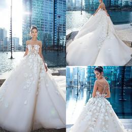 $enCountryForm.capitalKeyWord Australia - Vintage Princess 2019 Wedding Dresses Off Shoulder 3D Floral Appliques Bottons Court Train Beach Bridal Gowns Plus Size robe de mariée