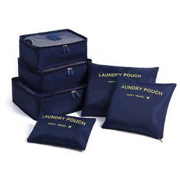 Types Set Clothes Australia - 6Pcs Set Travel Case Clothes Tidy Storage Bag Box Luggage Suitcase Pouch Bra Cosmetics Underwear Waterproof Organizer Container