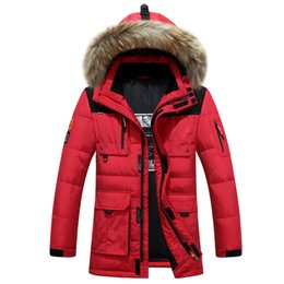 Chinese  YOUNGF  new down jacket, men's medium length, thick, warm, Hooded Coat, genuine white duck down winter clothes. manufacturers