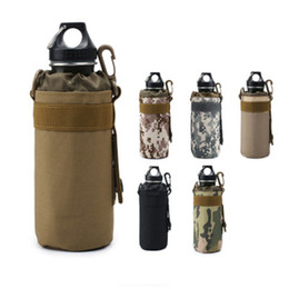 Hiking bike online shopping - Outdoor sports water bottle bag sleeve portable camouflage tactical mount packs mountain bike cycling cup kettle holder bags LJJZ477