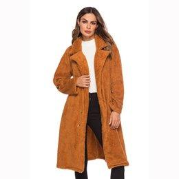 $enCountryForm.capitalKeyWord Australia - Winter Long Coat Women Woolen Fur Coat Thickness Female jacket High Street Lady's Slim Abrigos Mujer Invierno 2018 New
