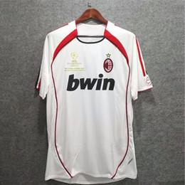 KaKa jerseys online shopping - Retro Jersey AC Milan KAKA Maldini Inzaghi Pirlo Seedorf Gattuso Nesta AC Milan Ronaldo Final Vintage Football Shirts