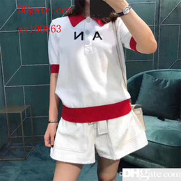 Wholesale Women Summer Knitted Shirts Turn down Collar Pullovers Ice Silk Polo Shirts Woman Sweater Pull Femme