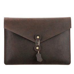 lenovo waterproof case NZ - 2019 high quality Waterproof real Leather Clutch Bag for Macbook Pro A1989 Digital Computer Case sleeve