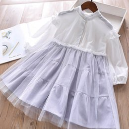 dd626d004c Everweekend Girls Cute Kids Patchwork Plaid Tull Blouse Dress Spring Summer  Holiday Party Sweet Baby Ruffles Clothing