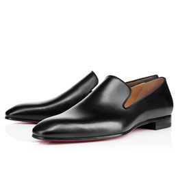 $enCountryForm.capitalKeyWord UK - Brand Red Bottom Loafers Luxury Party Wedding Shoe Designer BLACK PATENT LEATHER Suede Dress Shoes For Men Slip On Flats