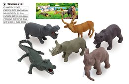 Figures Australia - 7-14cm animal model figure,Big and small elephant lions giraffes zebra 4 different animal set,soft plastic toy wild
