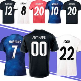 52e7bc5f721 18 19 New Thailand Spain Real Madrid Jersey 8 KROOS 22 ISCO 20 ASENSIO 12  MARCELO Embroidery Logo Cheap and Fine