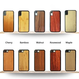 $enCountryForm.capitalKeyWord Australia - Eco-friendly Natural Real Wood Bamboo Cell Phone Cases Soft TPU Snap-on Bumper Cases Slim Hybrid Back Covers for iPhone and Samsung Galaxy