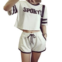 Black milk t shirts online shopping - Summer Women Pajamas Set Casual Girls Milk Silk Letter Pajamas Short Sleeve T shirt Short Pants Set