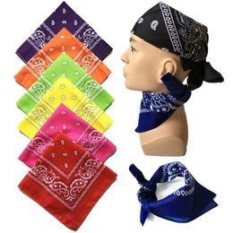 Унисекс хип-хоп черный бандана мода головные уборы волос группа шеи шарф запястье обертывания квадратные шарфы печати платок высокое качество