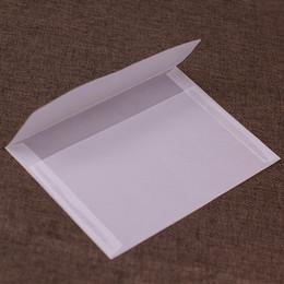 $enCountryForm.capitalKeyWord UK - 10pcs BZNVN blank translucent Card Photo gift parchment paper Storage envelopes