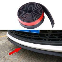 $enCountryForm.capitalKeyWord Australia - Universal Car Front Rear Side Bumper Lip Splitter Rubber Protector Body Spoiler Valance Chin Rubber Car Bumper Lip 2.5M