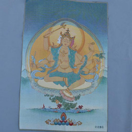 china clothes factory Australia - Factory direct brocade painting silk embroidery painting Tibetan Buddha Thangka Tangka Tantric leaf clothing Buddha Thangka Tara