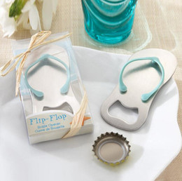 $enCountryForm.capitalKeyWord Australia - 100pcs lot Beach Wedding gifts Flip Flop bottle opener Wholesale wedding favors and gifts for guest Party favors LX6938