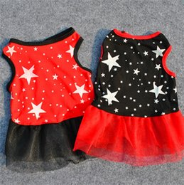 Dresses Apparel Australia - Dog Clothes Small Dogs Gauze Skirts Star Puppy Cake Dresses Pet Princess Apparel Summer Dog Clothing Supplies 2 Colors YW2608