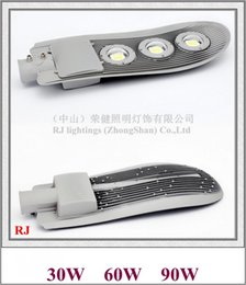 led street light casting Australia - COB LED street light lamp LED road light waterproof IP65 30W   60W   90W AC85V-265V die-cast aluminum snake style RJ-LS-J 2019