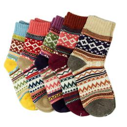 Cashmere Socks Knee Australia - 2018 Brand New Women Thick Warm Wool Cashmere Soft Solid Casual Cotton Socks Winter Colorful Warm Socks