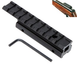 Wholesale Tactical Dovetail Picatinny Weaver Riser Rail Adapter mm to mm Hunting Scope Mount