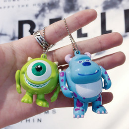 $enCountryForm.capitalKeyWord Australia - Cute Cartoon Monsters Doll Keychain for Women Bag Charms Ornament Phone Car Keyrings