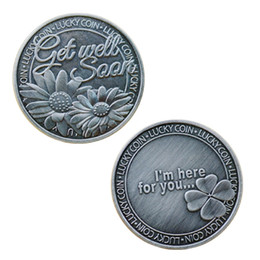 $enCountryForm.capitalKeyWord Australia - GLSY Get Well Soon Commemorative Coin, Commemorative Coin Lucky Love Words Romance Couple Collection Art Gifts Souvenir