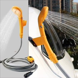 12v Showers Australia - Camping shower portable shower set USB car DC 12V pump pressure outdoor camp ducha camping Pet Car Washer